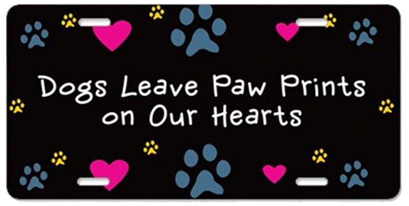dogs_leave_paw_prints_aluminum_license_plate